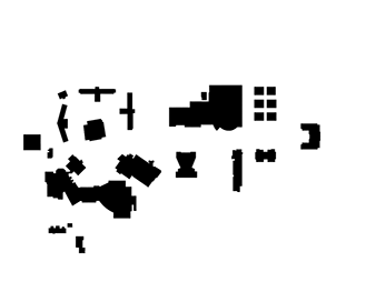 A rudimentary campus map.