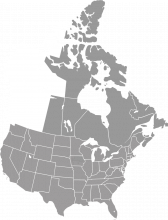 A map of western Canada