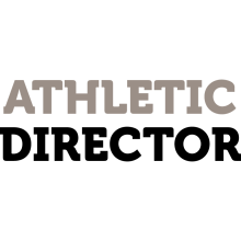 "Black and grey text that reads ""Athletic Director."""