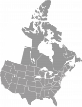 A map of western Canada and central and northeast Iowa